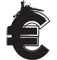 Abstract euro symbol vector