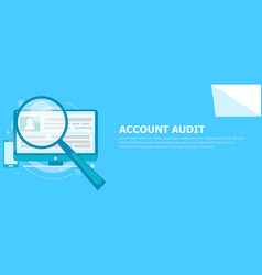 account audit banner vector image