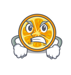 angry orange mascot cartoon style vector image