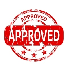 Approved rubber stamp vector image