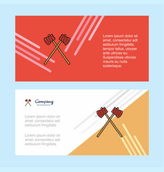 axe abstract corporate business banner template vector image