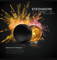 Beauty eye shadows ads vector