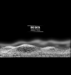 big data analytics black technology background vector image