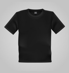 black t-shirt template isolated on white vector image