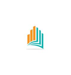 book business building company logo vector image