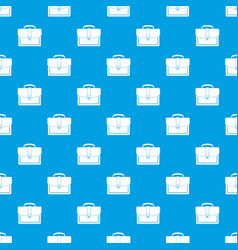 Business briefcase pattern seamless blue vector