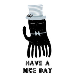 card with lettering have a nice day and cute vector image
