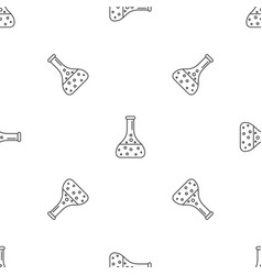 chemical full flask pattern seamless vector image