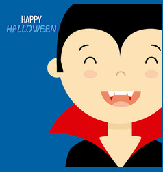 Child disguised as a vampire vector