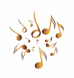 Classical Music Pack icon symbol golden vector image