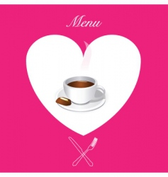 coffee menu cover vector image