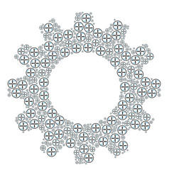 Cogwheel collage of drone screw rotation icons vector
