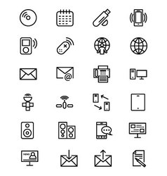 Communication Line Icons 7 vector image