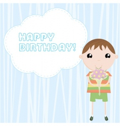 congratulation happy birthday vector image
