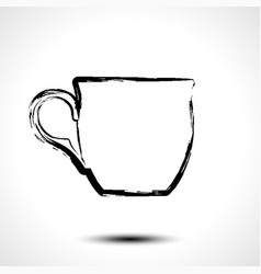 cup icon stylized sketch vector image