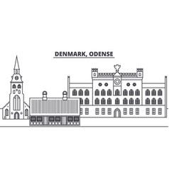 Denmark odense line skyline vector