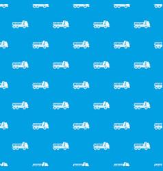 dumper truck pattern seamless blue vector image