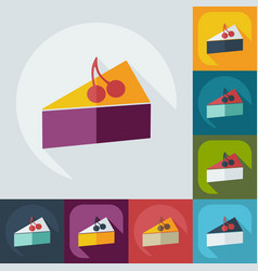 Flat modern design with shadow icons sweetness vector