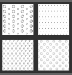 Four frames of wallpapers design vector