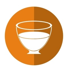 Glass cup tea fresh-circle icon shadow vector