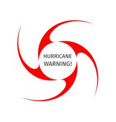 Graphic symbol of hurricane warning vector