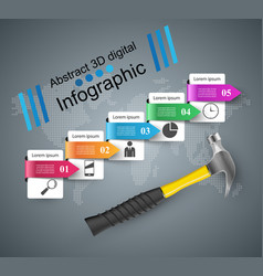 hammer recovery and repair business infographics vector image