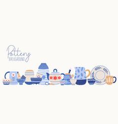 Handmade pottery flat clean vector