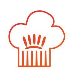 kitchen hat of chef cooking restaurant symbol vector image