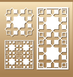 laser cut panel vector image