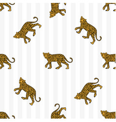 leopard pattern vector image
