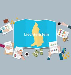 Liechtenstein economy country growth nation team vector