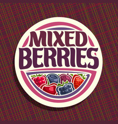 logo for berries vector image