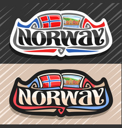 Logo for norway vector