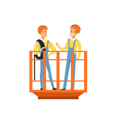 male miners in uniform standing in mine lift vector image