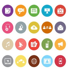 Media flat icons on white background vector