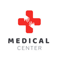Medical center icon logo creative design element vector