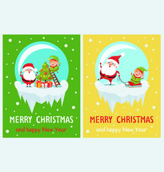 merry christmas joyfulness vector image