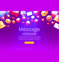message with many icons chat for communication vector image