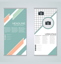 modern roll-up business banners design template vector image