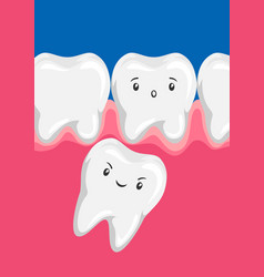 molar squeezes out batooth vector image