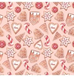Nice ginger cookies pattern vector