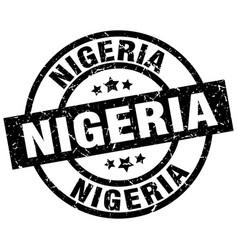 Nigeria black round grunge stamp vector