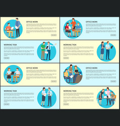 office work and working task vector image