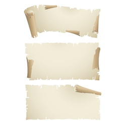 old paper scroll banners vector image