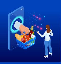order food online delivery service e-commerce vector image