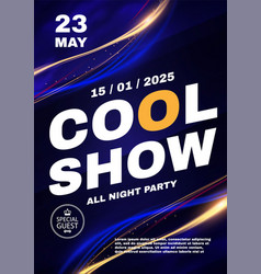 party and show poster template concert vector image