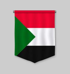 Pennant with flag vector