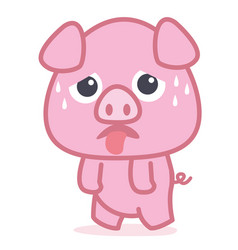 pig cartoon style collection vector image