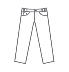 Plain uncoloured mockup trousers vector