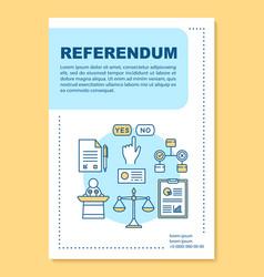 Referendum brochure template layout vector